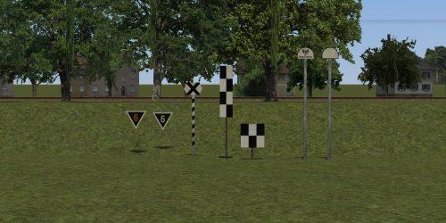 Signaltafeln für Schmalmastflügelsignale